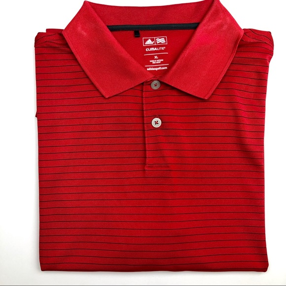 adidas Other - Adidas Climalite Red Polo Shirt Size XL